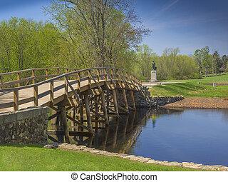 Old north bridge, Concord, MA. USA - Old North Bridge,...
