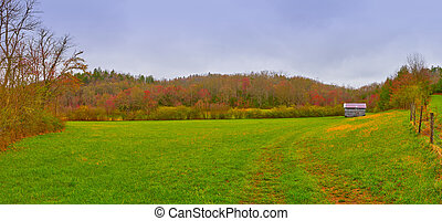 Old North Carolina Barn in a Field