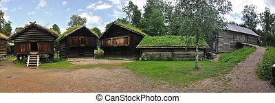 Old Norwegian Farm House (fra Telemark), Oslo, Norway - This...