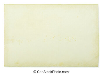 note paper - old note paper isolated on white background