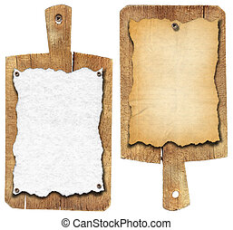 Old Notebook Cutting Boards - Two notebooks for recipes or...