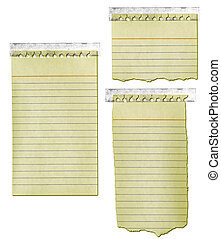 Old Notepad Paper with Tape