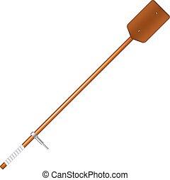 Old oar in brown design