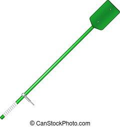 Old oar in green design