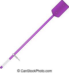 Old oar in purple design