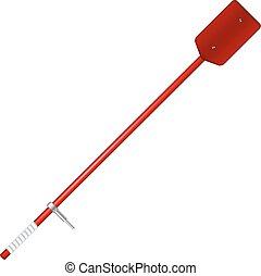 Old oar in red design