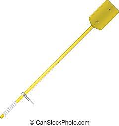 Old oar in yellow design