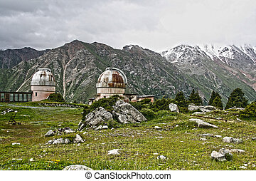 old Observatory in mountain Central Asia