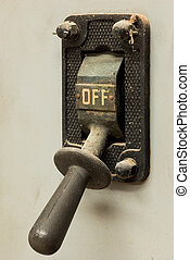 Old Off Switch - One old industrial power off switch.