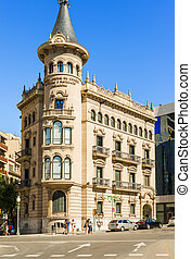 Old office building in Terragona, Spain - Tarragona, Spain -...