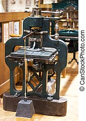 Old offset printing machine