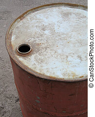 old oil barrel