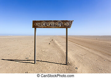old oil drill rig in Namibia