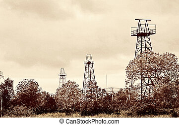 old oil tower