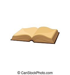 Old opened book vector Illustration on a white background
