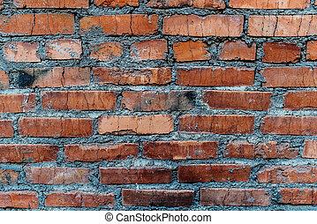 old orange brick wall