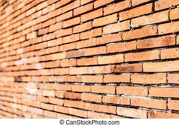 Old orange brown brick wall