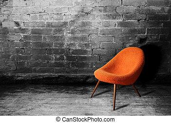 Old orange chair