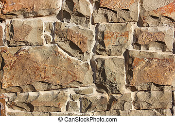 old orange curve masonry abstract texture background