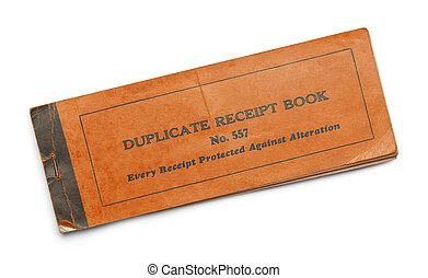 Orange Receipt Book
