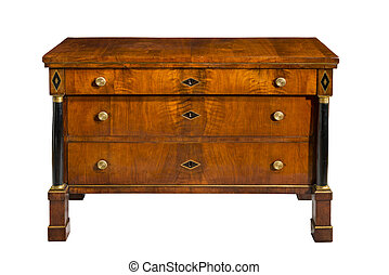 Old original vintage wooden chest of drawrs Regency period