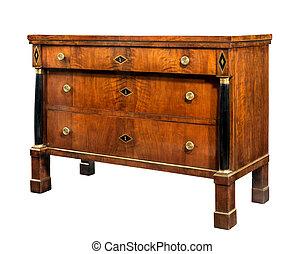 Old original vintage wooden chest of drawers Regency period