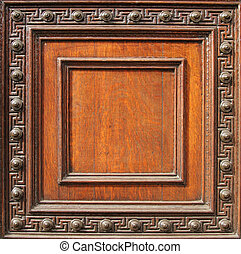 wood frame - old ornate wood frame