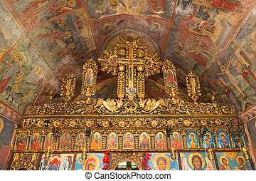 Old orthodox altar