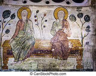 Old Orthodox Cave Mural