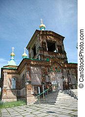 Old Orthodox Church in Karakol, Kyrgyzstan
