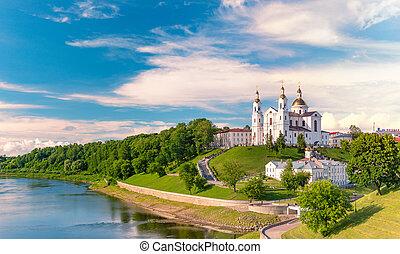 Old orthodox church in Vitebsk, Belarus, Europe - Panorama ...