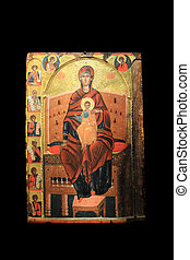 old orthodox paintings in a Greek Church