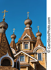 old orthodox wooden church