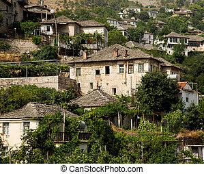 Old Ottoman houses of Gjirokastra, Albania - Ottoman houses...