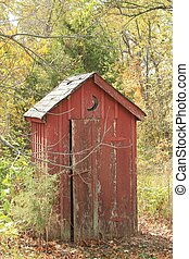 Old outhouse - Found this while driving through the back...