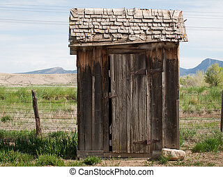 Old Outhouse - Old outhouse on the farm. Museum of the...