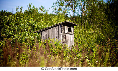 Old Outhouse Waiting For You - old country toilet waiting to...
