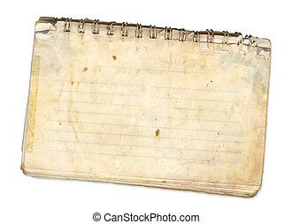 Old Pad - an old spiral bound pad used for recipes