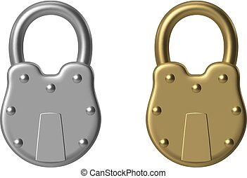 Old padlock - RGB vector illustration - created with...