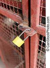 old padlock.
