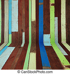 Old painted color wood room