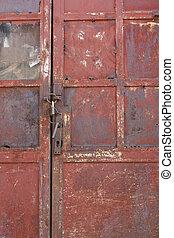 Old painted door