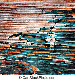 Old painted wooden boards.