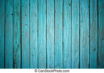 old painted wooden fence