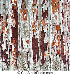 old painted wooden wal