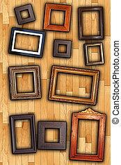 frames on wall backdrop