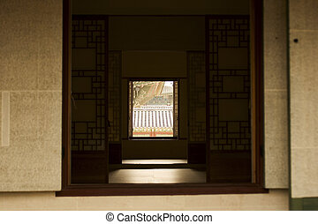 Old Palace in south korea, Interior view