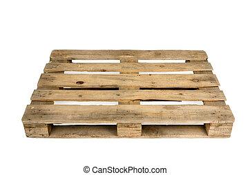 Old pallet, studio shot - Old wooden shipping pallet, studio...