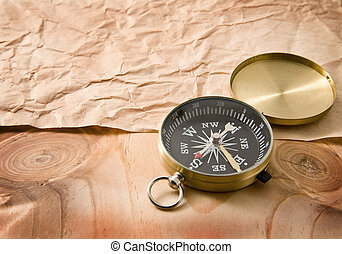 old paper and compass