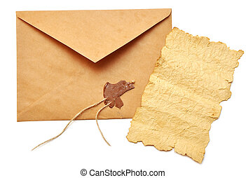 old paper and opened envelope